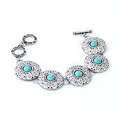 Украшения handmade. Livemaster - original item Kamalia bracelet with turquoise. Handmade.