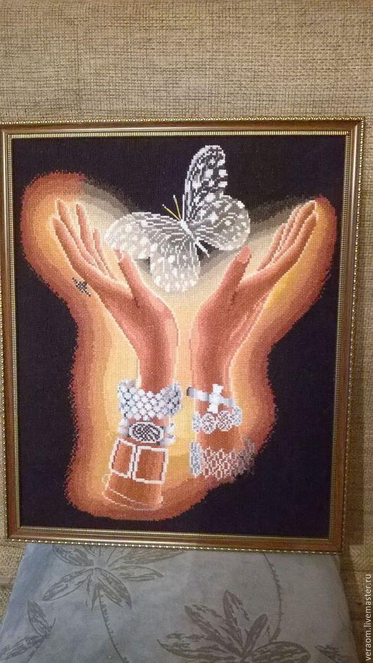 Люди, ручной работы. Ярмарка Мастеров - ручная работа. Купить Руки. Handmade. Коричневый, душа, настроение, багет