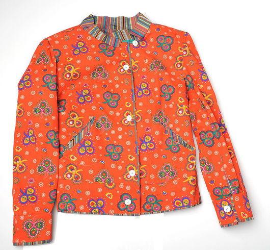 Пиджаки, жакеты ручной работы. Ярмарка Мастеров - ручная работа. Купить Джинсовая куртка. Handmade.