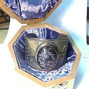 Украшения handmade. Livemaster - original item Silver Bracelet,, Mistletoe,,. Handmade.