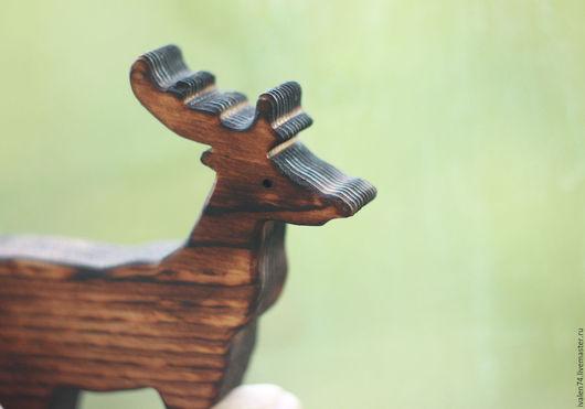 Вальдорфская игрушка ручной работы. Ярмарка Мастеров - ручная работа. Купить Олень. Деревянная игрушка. Сосна обожженная.. Handmade.