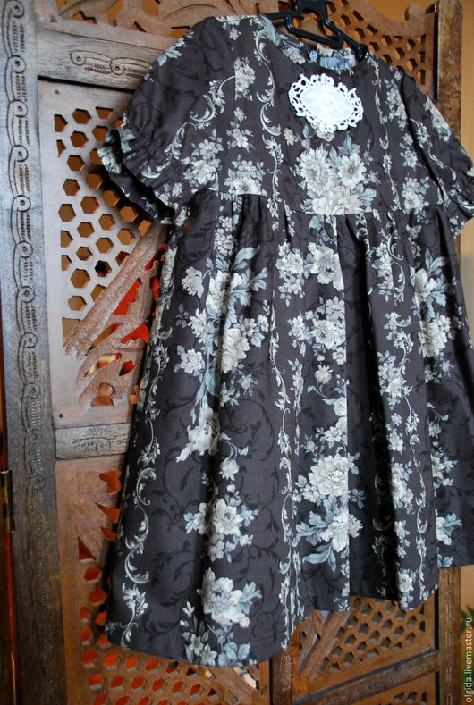 Одежда для девочек, ручной работы. Ярмарка Мастеров - ручная работа. Купить Платье ШОКОЛАД из хлопка. Handmade. Нарядное платье, для фотосессий