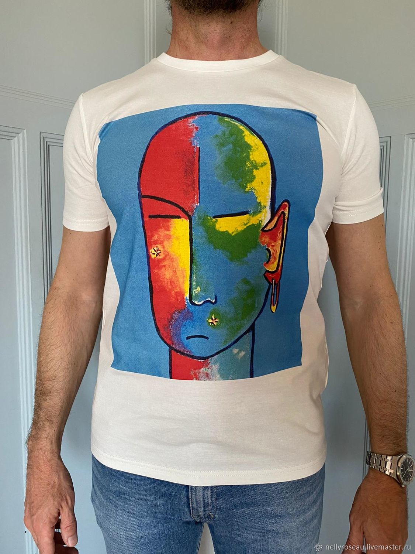 Дизайнерские футболки для мужчин из Франции, Футболки майки мужские, Ницца,  Фото №1