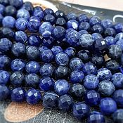 Материалы для творчества handmade. Livemaster - original item Natural sodalite faceted beads 8 mm (3990). Handmade.