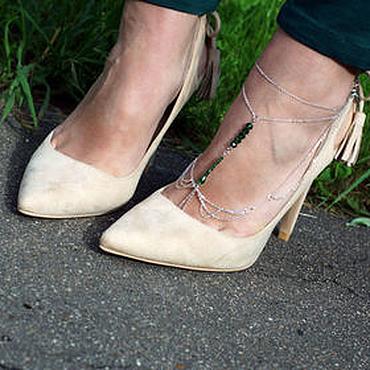 Украшения ручной работы. Ярмарка Мастеров - ручная работа Браслет-слейв на ногу. Handmade.