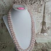 Украшения handmade. Livemaster - original item Set of Pink Quartz - Pink dreams. Handmade.