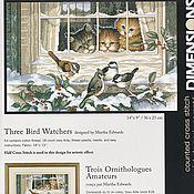 """Материалы для творчества ручной работы. Ярмарка Мастеров - ручная работа Набор для вышивания Dimensions """"Three Bird Watchers"""". Handmade."""