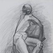 Картины и панно ручной работы. Ярмарка Мастеров - ручная работа Обнаженка. Handmade.