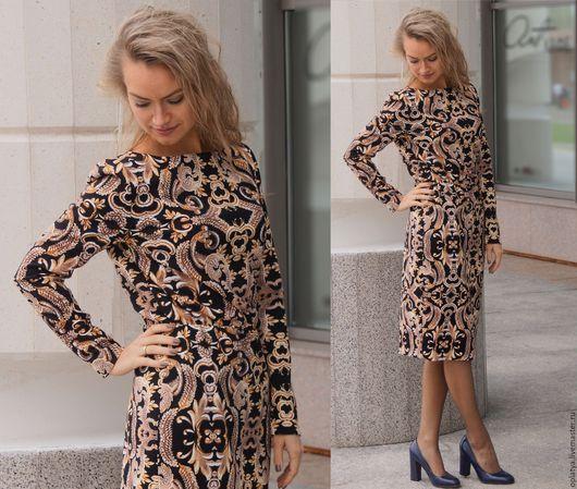 узкое платье, вензеля, теплое платье, платье-карандаш, осеннее платье, красивое платье, стильное платье, повседневное платье, платье на осень, узкое платье, вензеля, теплое платье, платье-карандаш,