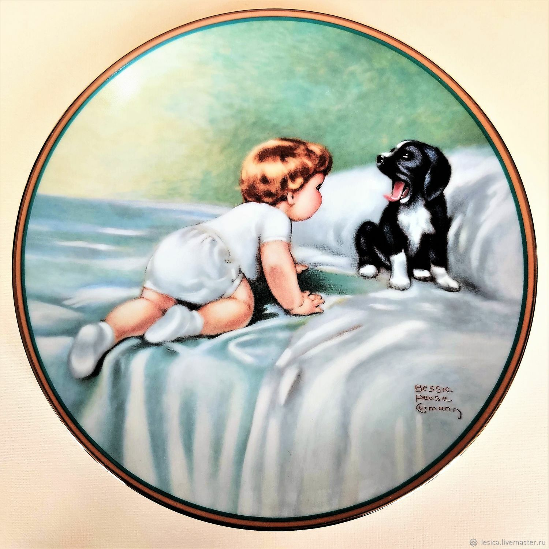 Hamilton Collection Wall Plate. USA, 1985, Vintage plates, Ramenskoye,  Фото №1