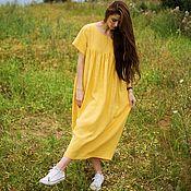 """Одежда ручной работы. Ярмарка Мастеров - ручная работа Платье длинное льняное """"Оверсайз"""". Handmade."""