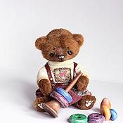 Куклы и игрушки ручной работы. Ярмарка Мастеров - ручная работа Джастин мишка тедди 23см. Handmade.