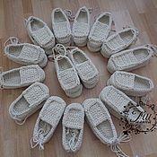 Обувь ручной работы handmade. Livemaster - original item SANDALS (cotton) for the dance team. Handmade.