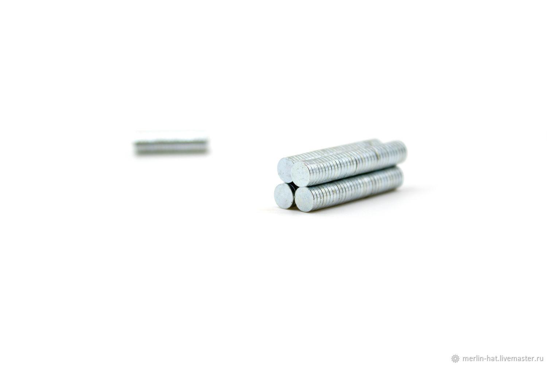 5 mm neodymium magnet (set of 10 PCs), Accessories for bags, Tambov,  Фото №1