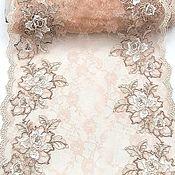 Материалы для творчества handmade. Livemaster - original item Lace with embroidery. Almonds. Handmade.