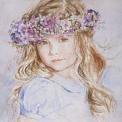 Картины и панно ручной работы. Ярмарка Мастеров - ручная работа портреты детей. Handmade.