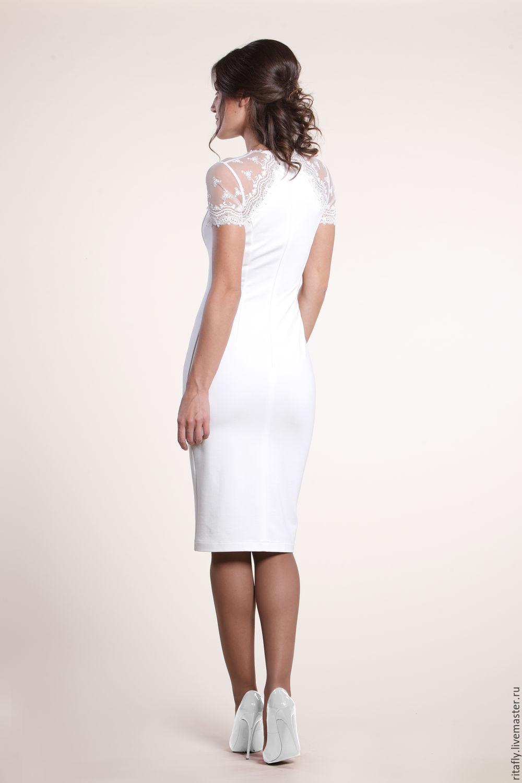 Купить платья футляр с кружевом
