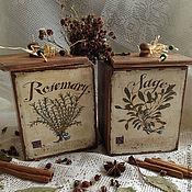 Для дома и интерьера ручной работы. Ярмарка Мастеров - ручная работа Короб для трав. Handmade.