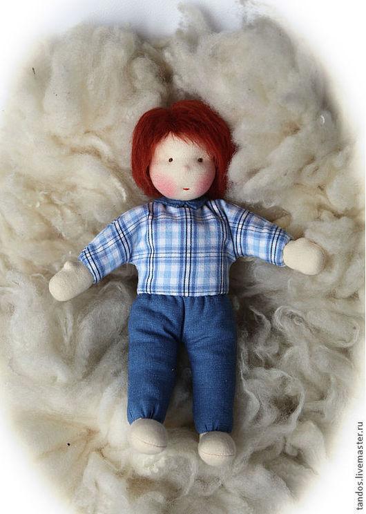 Вальдорфская кукла Тимоша, в пришитой одежке,  данный вариант выполню на заказ.