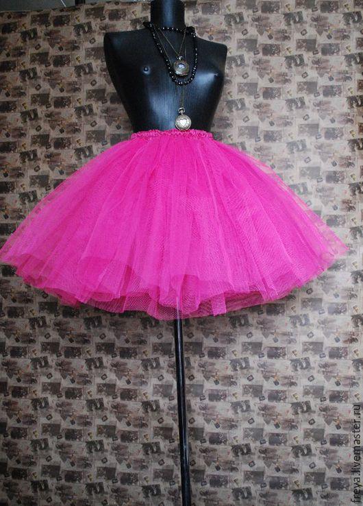 Юбки ручной работы. Ярмарка Мастеров - ручная работа. Купить Ярко-розовая юбка-пачка. Handmade. Юбка-пачка