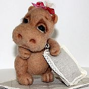 Куклы и игрушки ручной работы. Ярмарка Мастеров - ручная работа Бегемотик Сонечка. Handmade.