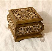 Для дома и интерьера ручной работы. Ярмарка Мастеров - ручная работа шкатулка резная деревянная. Handmade.