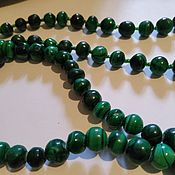 Винтаж handmade. Livemaster - original item Necklace beads MALACHITE NATURAL natural 1990x. Handmade.