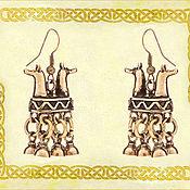 """Украшения ручной работы. Ярмарка Мастеров - ручная работа Серьги шумящие """"Хийси"""". Handmade."""