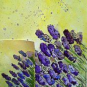 """Картины и панно ручной работы. Ярмарка Мастеров - ручная работа Картина акварелью """"Lavender"""". Handmade."""