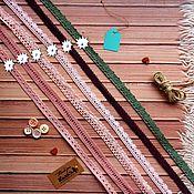 Материалы для творчества ручной работы. Ярмарка Мастеров - ручная работа кружево вязаное разных цветов 2. Handmade.