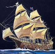 Картины и панно ручной работы. Ярмарка Мастеров - ручная работа Парусник, корабль, рисунок. Handmade.
