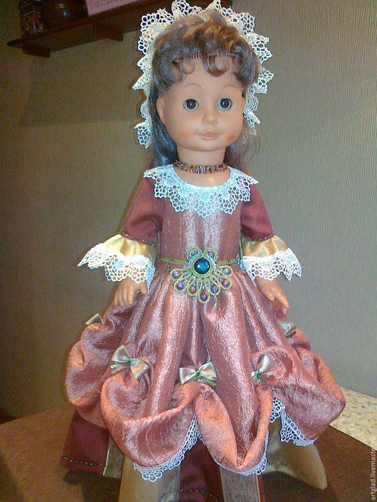 Одежда для кукол ручной работы. Ярмарка Мастеров - ручная работа. Купить Платье для домашних приемов. Handmade. Одежда для кукол, платье