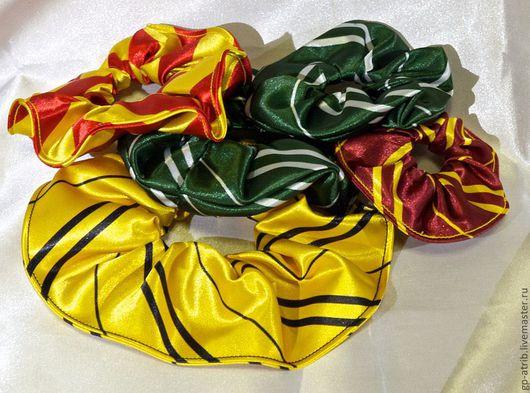 Заколки ручной работы. Ярмарка Мастеров - ручная работа. Купить Резинки для волос в цветах факультетов Хогвартса. Handmade. Резинка для волос