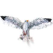 Материалы для творчества handmade. Livemaster - original item Handmade patch Seagull in flight. Handmade.