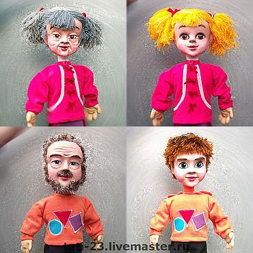 """Куклы и игрушки ручной работы. Ярмарка Мастеров - ручная работа Мальчик и девочка """"Сказка о потерянном времени"""". Handmade."""