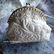 "Сумки и аксессуары handmade. Livemaster - original item Quilted, textile clatch ""Simply the White"". Handmade."