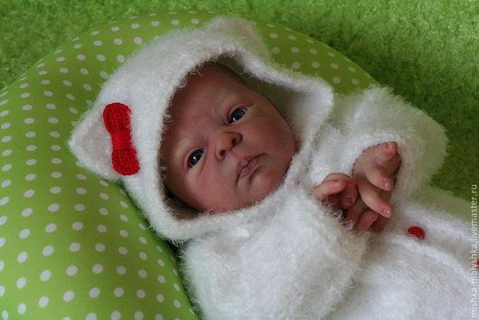 """Для новорожденных, ручной работы. Ярмарка Мастеров - ручная работа. Купить Комплект """"Hello Kitty"""". Handmade. Белый, Китти"""