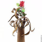 """Для дома и интерьера ручной работы. Ярмарка Мастеров - ручная работа кожаная скульптура """"ваза"""". Handmade."""