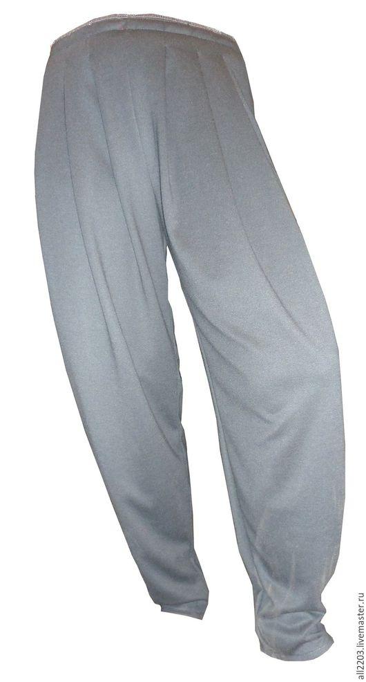 Большие размеры ручной работы. Ярмарка Мастеров - ручная работа. Купить Трикотажные брюки. Handmade. Разноцветный, трикотажное полотно