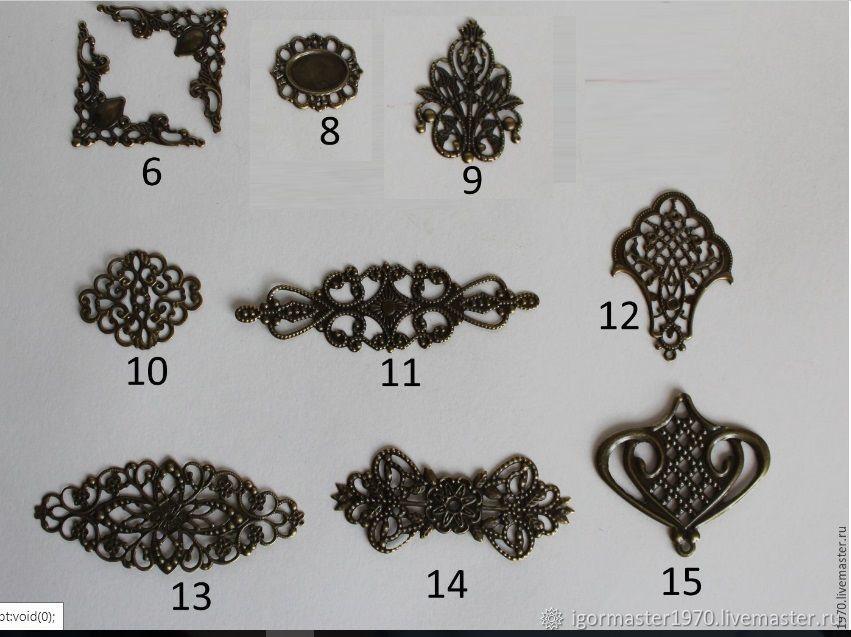 Накладка для шкатулок ( 10 видов)  Филигрань, Для украшений, Москва, Фото №1