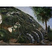 Картины и панно ручной работы. Ярмарка Мастеров - ручная работа Обломки субмарины (72х53см акварель). Handmade.