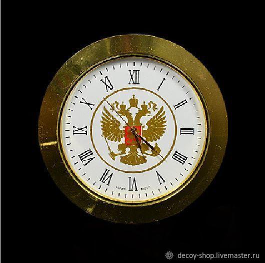 Hour capsule, metal, built-in clock mechanism, Elements for decoupage and painting, Serpukhov,  Фото №1