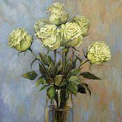 Картины и панно handmade. Livemaster - original item Rose Champagne. oil on canvas. Painting with flowers. Handmade.
