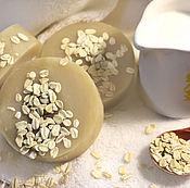 Косметика ручной работы. Ярмарка Мастеров - ручная работа Овсяно-медовое мыло на молоке. Handmade.
