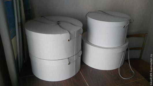 Подарочная упаковка ручной работы. Ярмарка Мастеров - ручная работа. Купить Шляпная коробка. Handmade. Серый, картон, клей пва
