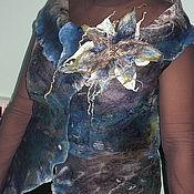 """Одежда ручной работы. Ярмарка Мастеров - ручная работа Жилет """"Грозовое облако"""". Handmade."""