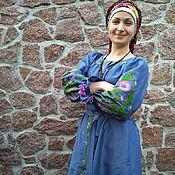 """Одежда ручной работы. Ярмарка Мастеров - ручная работа Платье вышитое льняное """"Чертополох"""". Handmade."""