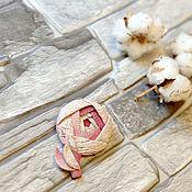 Украшения handmade. Livemaster - original item February rose brooch made of polymer clay. Handmade.