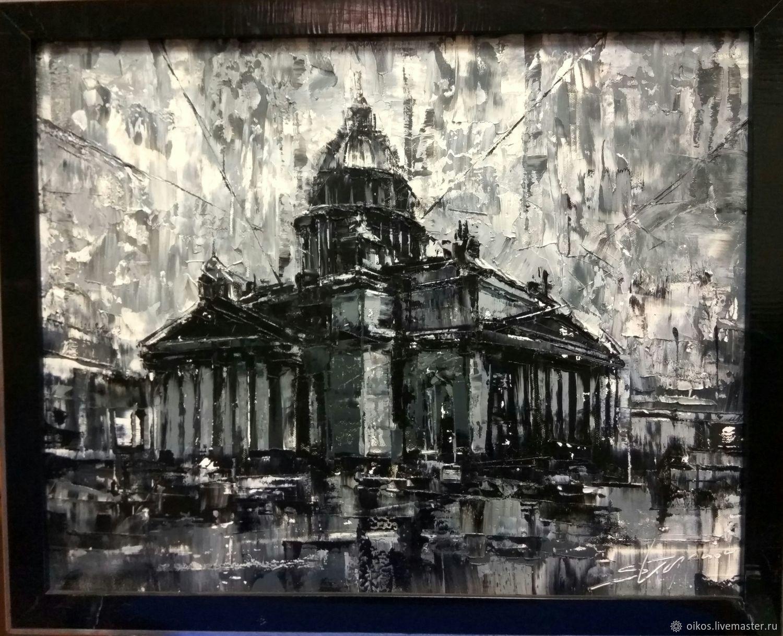 City handmade livemaster handmade buy isaac in black and white oil painting like
