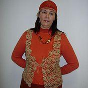 Одежда ручной работы. Ярмарка Мастеров - ручная работа Золотой жилет со стразами. Handmade.